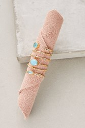Anthropologie Stone Stacking Rings Set Peach