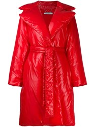 Givenchy Padded Belted Coat Red