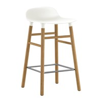 Normann Copenhagen Form Barstool Oak White