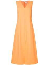 Ck Calvin Klein Suiting Dress Yellow And Orange