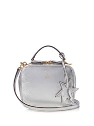 Mark Cross Laura Baby Leather Body Bag Silver
