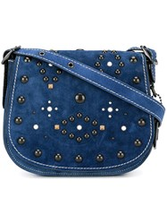Coach Studded Satchel Blue