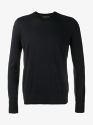 Rag And Bone Classic Crew Neck Jumper Navy Blue
