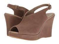 Cordani Amiga Taupe Calfskin Women's Wedge Shoes