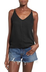 Junior Women's Bp. V Neck Crepe Camisole Black