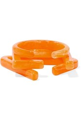 Cult Gaia Set Of Three Acrylic Cuffs Yellow