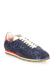 Coach Multitoned Silhouette Sneakers Blue