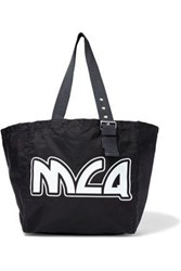 Mcq By Alexander Mcqueen Woman Printed Canvas Tote Black