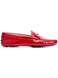 Tod's Gommino Loafers Red