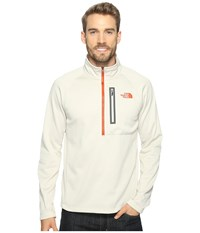 The North Face Canyonlands 1 2 Zip Rainy Day Ivory Heather Men's Long Sleeve Pullover White