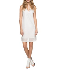 Andrew Marc New York Eyelet Shift Dress White