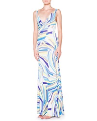 Emilio Pucci Side Ruched Tank Maxi Dress 40 6