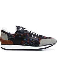 Pierre Hardy 'Track' Forest Camocube Print Sneakers Multicolour