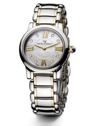 David Yurman Classic 30Mm Stainless Steel And 18K Gold Quartz Watch With Diamonds No Color