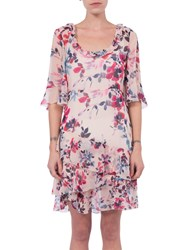 French Connection Linosa Crinkle Dress Barley Pink