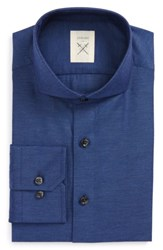 Strong Suit Men's Extra Trim Fit Solid Dress Shirt Navy