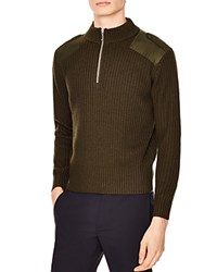 Sandro Warrior Sweater Olive Green