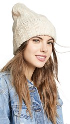 Free People Harlow Cable Knit Beanie Ivory