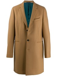 Paul Smith Ps Boxy Single Breasted Coat Brown