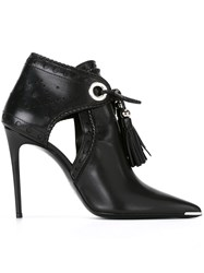 Barbara Bui 'Ankle Tasseled' Boots Black