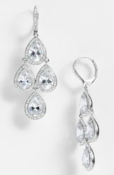 Nadri Cubic Zirconia Chandelier Earrings Nordstrom Exclusive Silver Clear Crystal