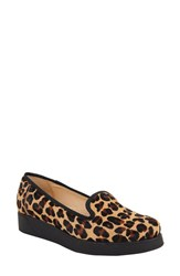 Ukies Women's Alexa Platform Loafer Leopard Print Calf Hair