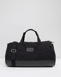 Systvm Duffle Bag In Black Canvas Black