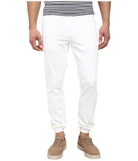 Publish Parkin Brushed Twill Five Pocket Jogger Pants With Stone Wash White Men's Casual Pants