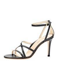 Marion Parke Lillian Strappy Evening Sandals Black