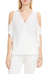 Vince Camuto Women's Wrap Front Cold Shoulder Blouse New Ivory