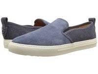 Coach Suede C115 Slip On Sneaker Dusk Midnight Navy Shoes Blue