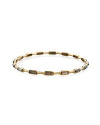 Ippolita 18K Gold Rock Candy Gelato 16 Stone Bangle In Black Shell