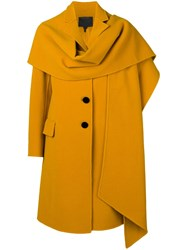 Marc Jacobs Notch Collar Coat Yellow