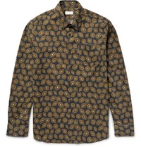 Dries Van Noten Printed Cotton Poplin Shirt Black