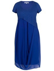 Chesca Bubble Bodice Chiffon Dress Cobalt