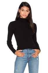 Autumn Cashmere Ribbed Funnel Neck Sweater Black