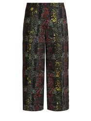 Marco De Vincenzo Floral Print Wide Leg Trousers Green Multi