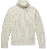 Tom Ford Ribbed Cashmere Rollneck Sweater Gray