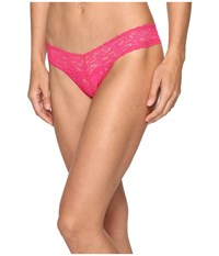 Hanky Panky Signature Lace Low Rise Thong Tickled Pink Women's Underwear