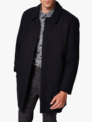 Selected Homme Lee Wool Tech Coat Dark Sapphire