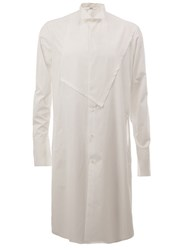 Aganovich Chest Patch Long Shirt White