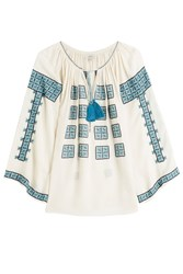 Talitha Embroidered Tunic Blouse Multicolor