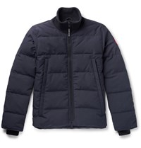 Canada Goose Woolford Slim Fit Quilted Shell Down Jacket Navy