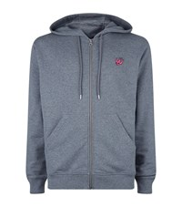 Mcq By Alexander Mcqueen Mcq Alexander Mcqueen Full Zip Swallow Badge Hoodie Male Grey