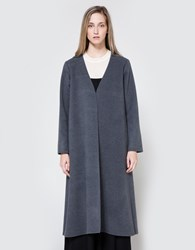Graphpaper Wool Cashmere No Collar Coat Grey