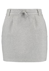 Only Onlpoptrash Mini Skirt Light Grey Melange Mottled Light Grey