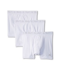Original Penguin 100 Cotton 3 Pack 2 Button Boxer Brief White Men's Underwear