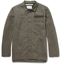 White Mountaineering Washed Cotton Utility Shirt Green