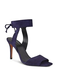Whistles Delphia Ankle Tie High Heel Sandals Navy