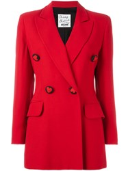 Moschino Vintage Double Breasted Blazer Red